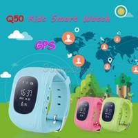 Для детей подарок Q50 GPS трекер дети смарт-часы SOS ключ для помощи фунтов двойное местоположение Безопасный анти-потерянный ребенок ребенок смотреть красочные