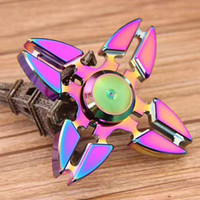 New arrived Rainbow Fidget Spinner EDC Hand Spinner Triangle...