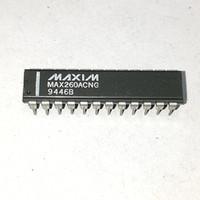 MAX260ACNG . MAX260 . PDIP24 , двойной включен конденсатор, интегрированный фильтр схемы ИМС / двойной в-линия 24-контактный разъем пластиковый пакет . Максим фишки
