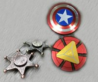 Newest Lead Iron Man Captain America Sheriff Hand Spinner To...