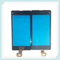 10pcs original nueva pantalla táctil digitalizador reemplazo del panel de vidrio para Sony Xperia Z L36H LT36i Z1 L39h C6902 C6903 Z1 compacto Mini D5503