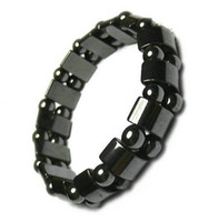 10 шт./лот черный магнитный здоровый браслеты для DIY ремесло ювелирные изделия Gfit 8 дюймов M41 Бесплатная доставка