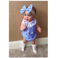 Wholesale Boys Girls Baby Rompers Summer Cotton Onesies Clot...