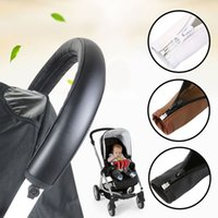 Baby Pram Accessories Stroller Armrest PU Leather Protective...