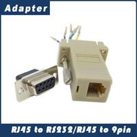 Venta caliente de Buena Calidad Al Por Mayor 1000 unids / lote DB9 Hembra a RJ45 Hembra F / F RS232 Adaptador de Conector Adaptador Modular Extensor