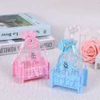 عيد ميلاد استحمام الطفل الحلوى مربع حفل زفاف لوازم شخصية الإبداعية مهد نوع مربع هدية حقيبة ZA4952