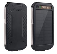 20000 мАч 2 USB-порт Солнечное питание Банка Зарядное устройство Внешняя резервная батарея с розничной коробкой для iPhone 7 Samsung S6EDGE мобильный телефон