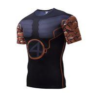 2017 novos homens calças justas de mangas curtas pedra pessoas Lycra T-shirt de secagem rápida esportes ao ar livre roupas de fitness