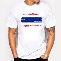남자 티셔츠 향수 패션 태국 국립 국기 탑스 O-enck 흰색 T 셔츠 반소매 엉덩이 캐주얼 코튼 티