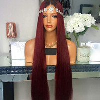 Brazilian Virgin Hair Ombre T1B 99J Silky Straight Full Lace...