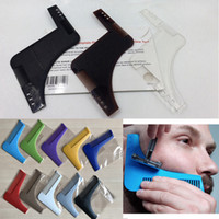 2 stili multifunzione barba modellatura Shaper Styling Template PLUS barba pettine tutto in uno strumento ABS pettine per capelli barba Trim Template