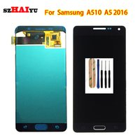 A510 Super AMOLED Schirm für Samsung-Galaxie A5 2016 A510 A510F A510 M A510FD A5100 A510Y LCD Display + Touchscreen-Tools