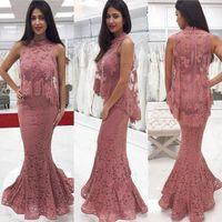 Lace hohe Ansatz elegantes Abendkleid mit Verpackungs-Charme Applique Nixe formalen Abendkleid der hübschen Frauen Kleider für besondere Anlässe Vestito Da