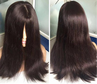8A Grade Human Hair Dark Brown Color#2 Best Sheitels 4x4 Sil...