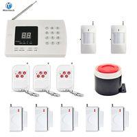 Minritech Home Security Système d'alarme GSM Sans fil / filaire SMS Système d'alarme vocale antivol Ensemble de commande à distance Arm / Désarmer KIT