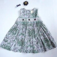 Vintage Handmade Girl' s Dress 100% Cotton Boutique Kid&...