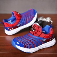 2017 New Fashion Kids Sports Shoes 7 Colors Boys Spiderman S...