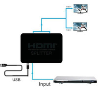 Commutateur HDMI Dual Display 1080P 3D HDMI Splitter Switcher avec alimentation USB 1x2 1 en 2 HDMI Distributor Pour DVD HDTV PS3 PS4 XBOX 50pcs