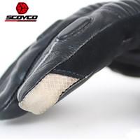 2017 New SCOYCO gants de conduite moto imperméable coupe-vent gants en cuir en cuir de style Locomotive Hare hiver vent chaud MC31
