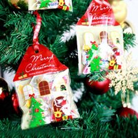 Small house shape Christmas Cookie Bags, Cellophane Bags, Sel...