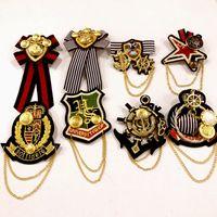 Monili di modo donne accademiche pin distintivo / handmade tessuto ricamo catena spilla bambini camicia blazer accessori / broche / corpetti all'ingrosso