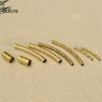 BoYuTe 100Pcs Vendita CALDA Metallo Ottone Tubo Bend Moda Accessori Fai da te Parti per la produzione di gioielli Componenti