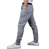 الجملة 2015 أزياء العلامة التجارية العلامة التجارية الجديدة بنطال رياضة سراويل الرجال سروال الحريم عرق السراويل، رجال جيب كبير تصميم رجل البضائع ركض M ~ XXL