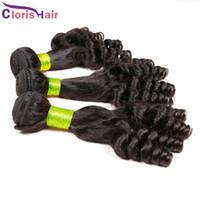 Aunty Funmi 헤어 익스텐션 100g / pc 저렴한 바운시 스파이럴 로맨스 컬스 처리되지 않은 말레이시아 스프링 컬리 인간의 머리카락을 묶는 3Bundles
