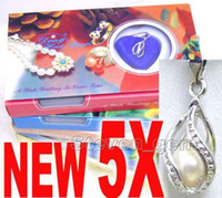 SALE 5 Box helix(drop) pendant Natural Wish Pearl Necklace g...