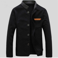 Mens Stand Collar Jackets 2017 New Arrivals Fashion Long Sle...