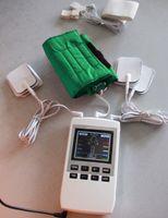 2 pçs / lote Por DHL / Fedex A01 DEZENAS / EMS Eletroterapia Fisioterapia Pulso Massageador Estimulador Muscular Máquina de Terapia Estimulador de Acupuntura