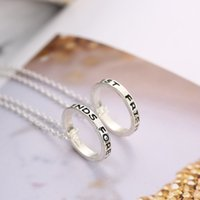 Wholesale- Letter Engraved Best Friends Forever Circle Penda...