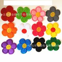 Envio Atacado-livre 120pcs smail diferentes faces pano bordado em patchwork Sew Motif Applique Bordados Flower