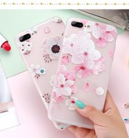Flower Patterned Case For iPhone 6 6s 7 Plus Cover Soft Sili...
