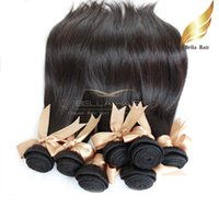 "8A 10 ""-34""100 % 직선 머리는 몽골어 버진 머리카락 2pcs / lot 레미 인간의 머리카락 확장 무료 배송 자연 색상 Bellahair."