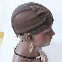 De haute qualité perruque Caps en stock brun / bouchon perruque noire pour jewish fabrication de perruques avec sangle réglable Weave