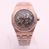 Luxury brand men' s watch royal oak series Hollow 18K ro...