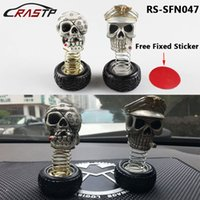 RASTP-Free Shipping Mode Décoration de voiture Shaking Head Skull Head Shake Un bordé Scared Skull Toys LS-SFN047
