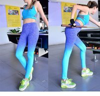 Women Sports Yoga Pants Elastic Compression Tights Fitness R...