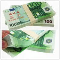 100PCS EUROS 100 BANKNOTES Training Collect Learning Movie P...