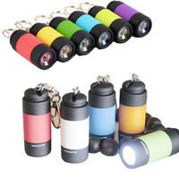 usb 충전식 미니 LED 토치 포켓 미니 LED 손전등 충전기 램프 키 체인 조명 소형 손전등