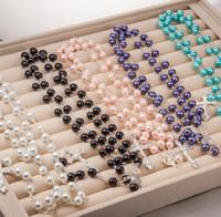 10 Teile / los Rosenkranz perlen Perlen halskette Die Christian Kreuz Halskette Perlen anhänger Halsketten 2017 Weihnachtsschmuck Auf Lager