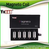 Original Yocan Magneto Coil Cerâmica Cabeça de Cera de Substituição com Tampa Magnética Ferramenta Sabor Puro Fit Magnetic Wap Kit 100% Genuine 2204037
