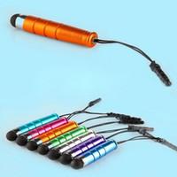 Mini penne di penna di plastica dello stilo del touch screen capacitivo 11 colori per il pc del ridurre in pani del telefono mobile