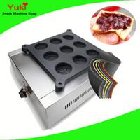 9 Delik Elektrikli Tekerlek Kek Makinesi Tayvan Kırmızı Fasulye Kek Makinesi Kırmızı Fasulye Kek Makinesi Popüler Snack Gıda Makinesi