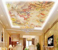 Avrupa tarzı çatı boyama tavan tavan duvar kağıdı duvar 3d tv fon için duvar kağıdı 3d duvar kağıtları