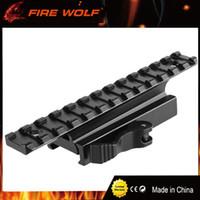 FIRE WOLF 플랫 탑 13 슬롯 퀵 릴리스 QD 20mm 라이저베이스 Picatinny 스코프 위버 레일 라이저 사냥터 액세서리