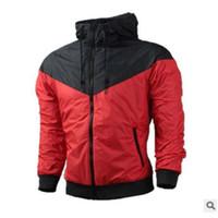 Kostenloser Versand Herbst dünne windrunner Männer Frauen Sportbekleidung hochwertige wasserdichte Stoff Männer Sportjacke Mode Zipper Hoodie plus Größe 3XL