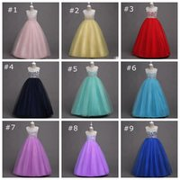 Big Girls Princess Party Dress Kids Girls Sleeveless Floor L...