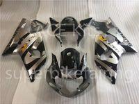 3 regalo nuevo Suzuki GSXR1000 K1 00 01 02 GSXR1000 K1 K2 2000 2001 2002 ABS kit de careta de la motocicleta de inyección Plata negro A6